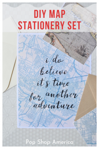 diy map stationery set craft in style pop shop america
