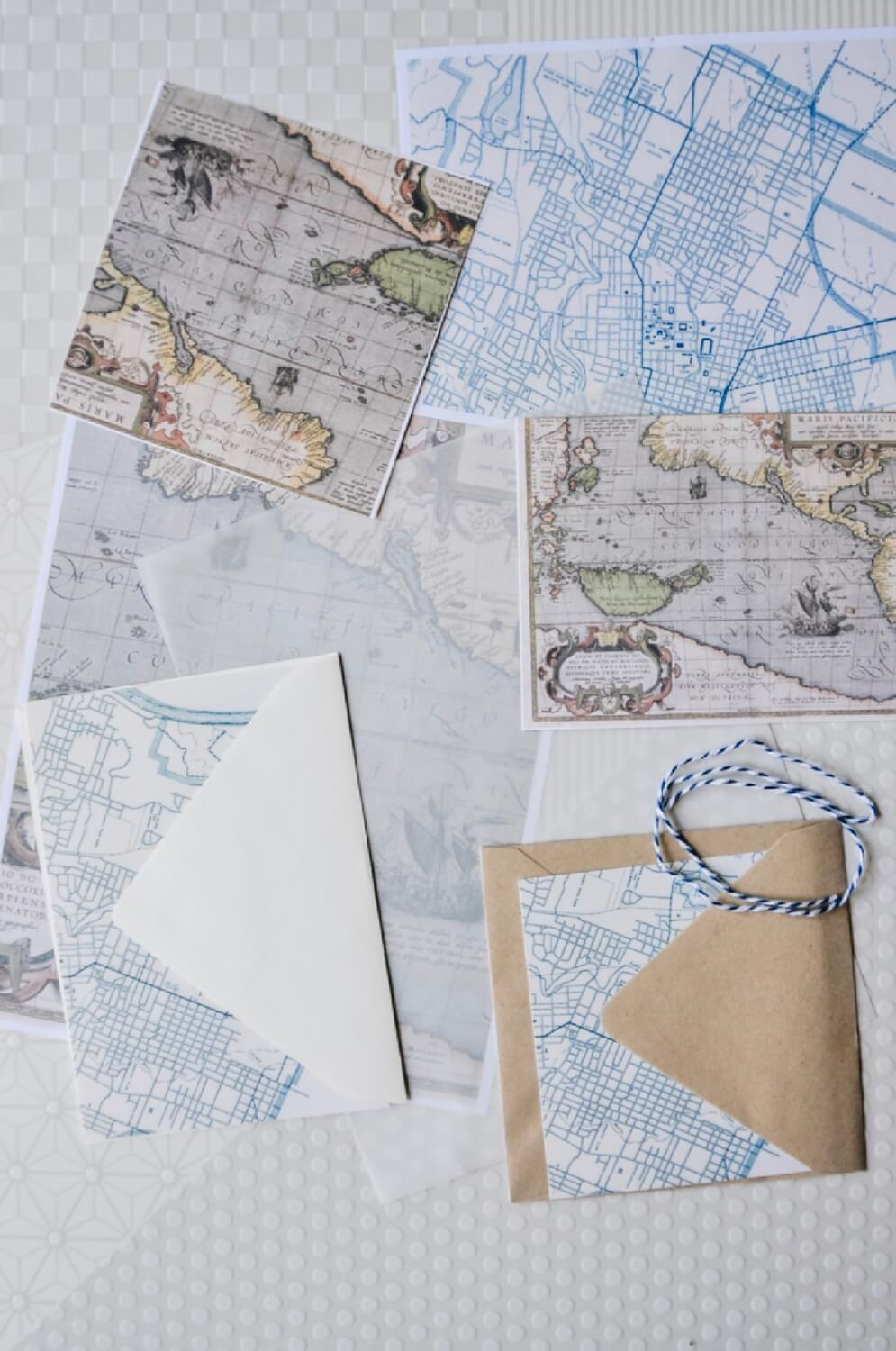 diy maps to make your own map stationery