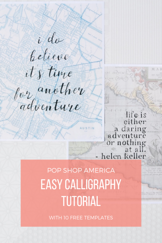 easy calligraphy instructions for pop shop america arts and crafts subscription