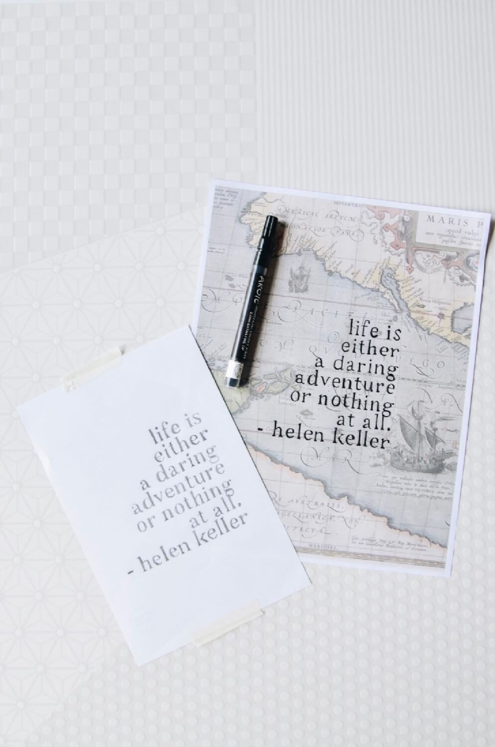 hand lettering quote tutorial pop shop america craft in style