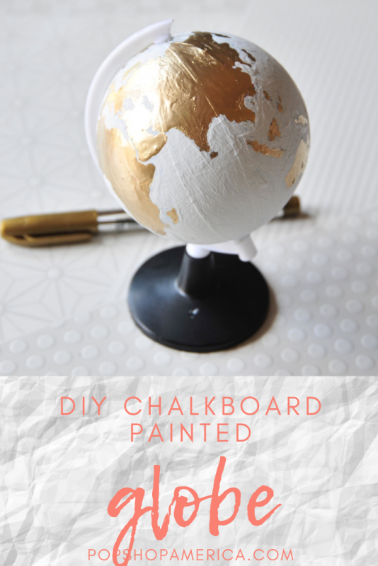 how to make a chalkboard hand painted globe instructions