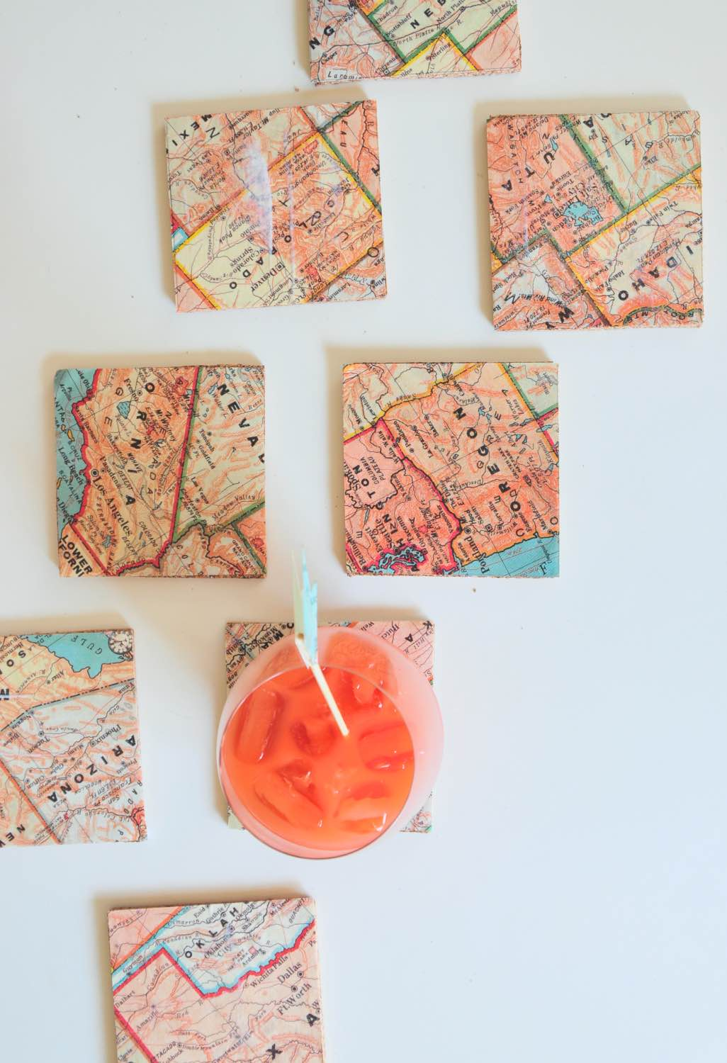 how to make cork and map coasters pop shop america