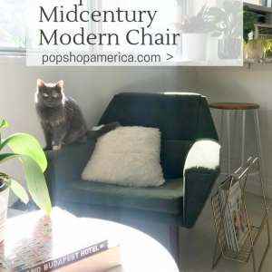 how to reupholster a midcentury fabric chair tutorial