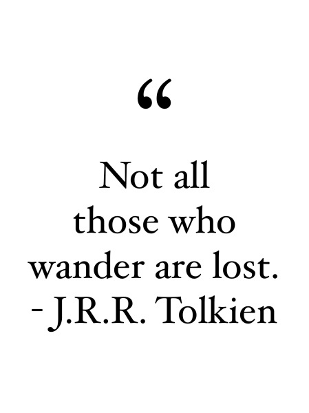 not all those who wander are lost quote jrr tolkien pop shop america