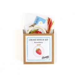 stranded stitch strawberry cross stitch kit craft supplies