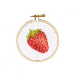 strawberry cross stitch kit diy pop shop america