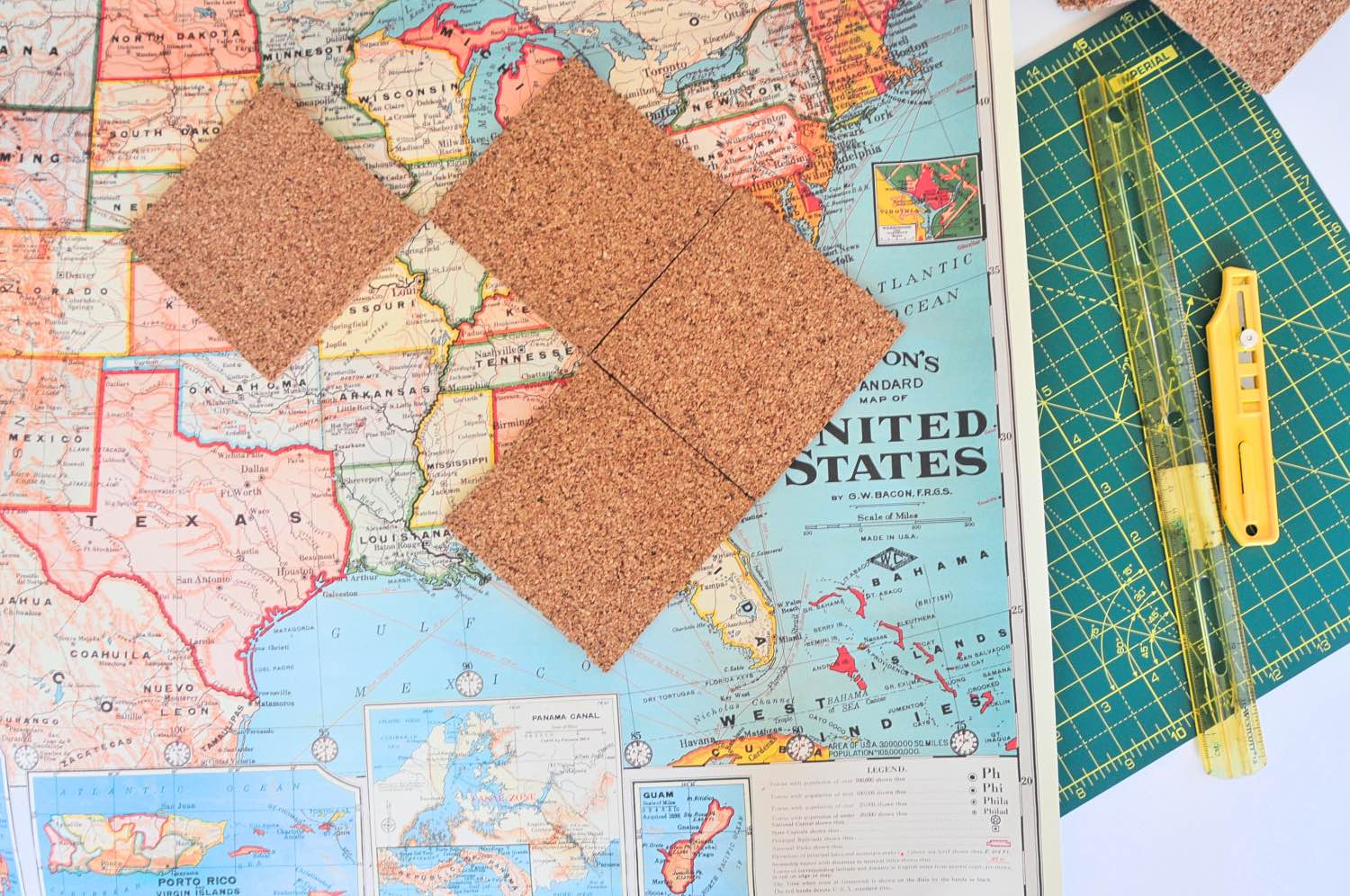 supplies to make diy map coasters pop shop america