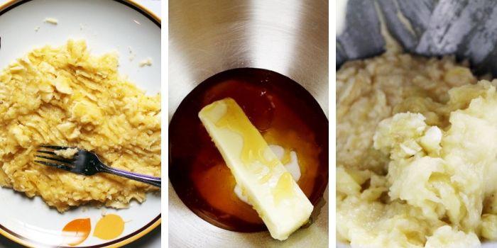 Banana Sandwich Cookies Steps 1 to 3