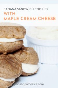 banana sandwich cookies with maple cream cheese