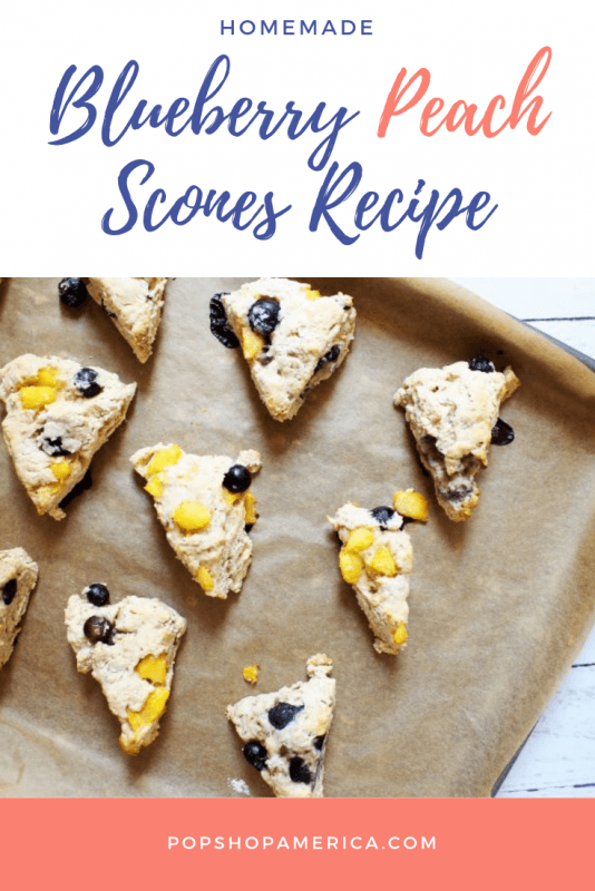 blueberry peach scones recipe pop shop america