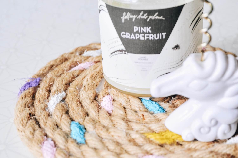 close up candy painted rope trivet diy pop shop america