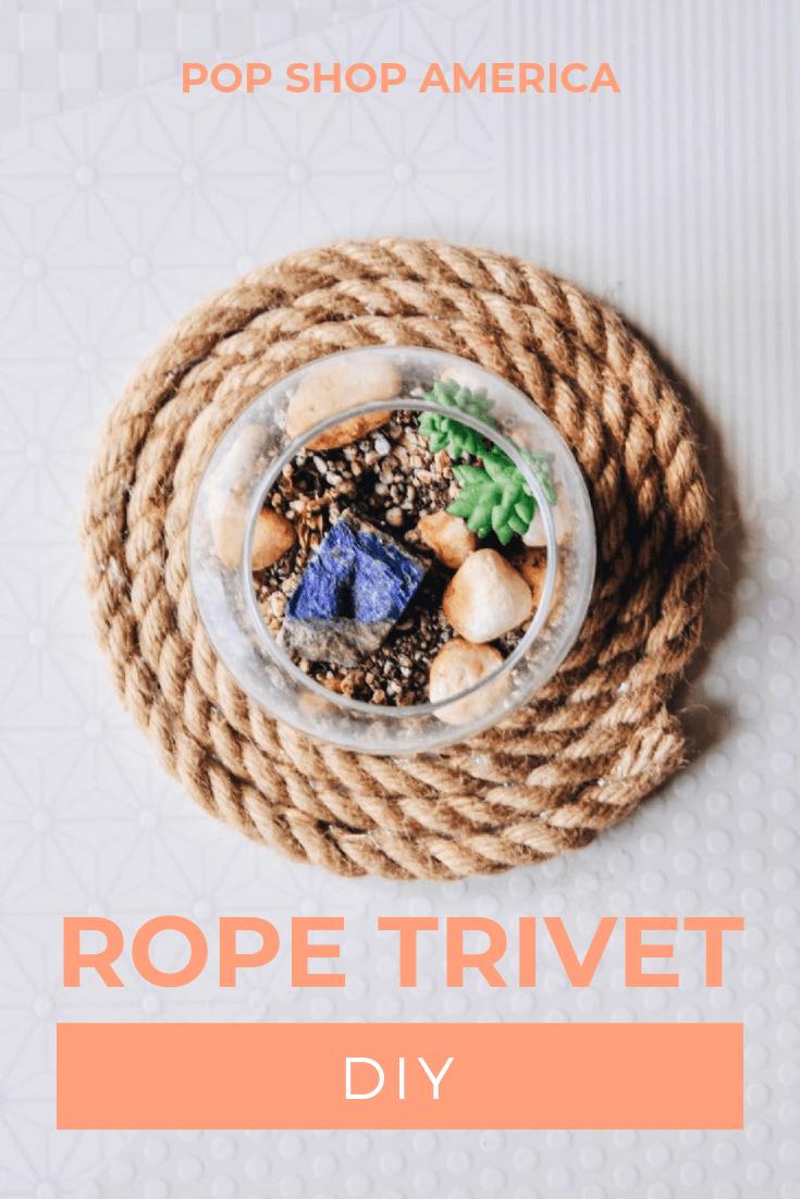 How To Make A Diy Rope Trivet