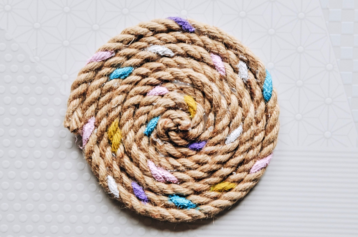 finished painted rope trivet pop shop america