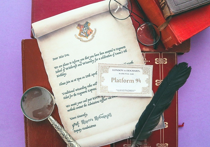 harry potter acceptance letter note card pop shop america