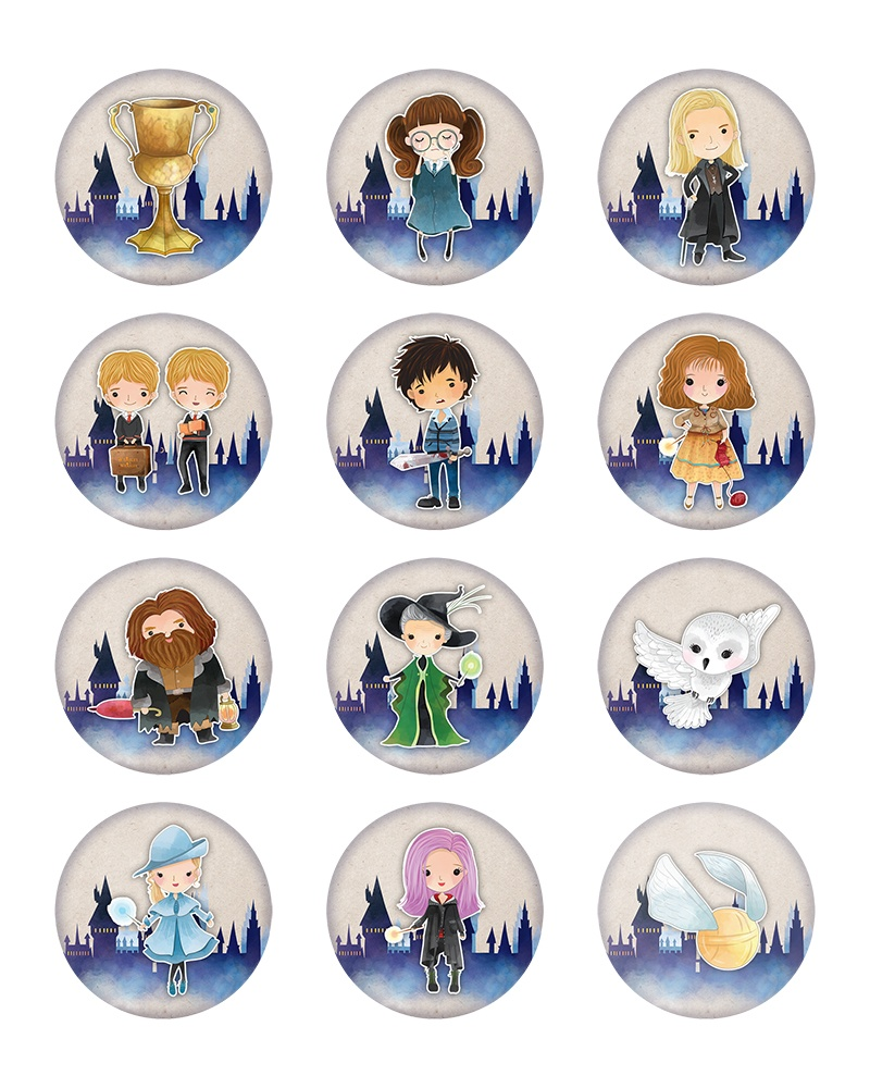 harry potter cupcake toppers printable
