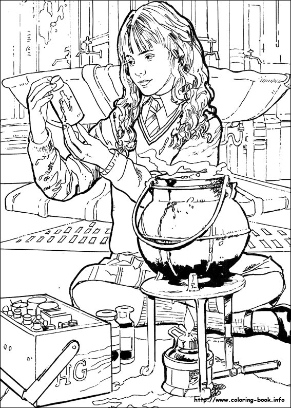 harry potter hermoine coloring page