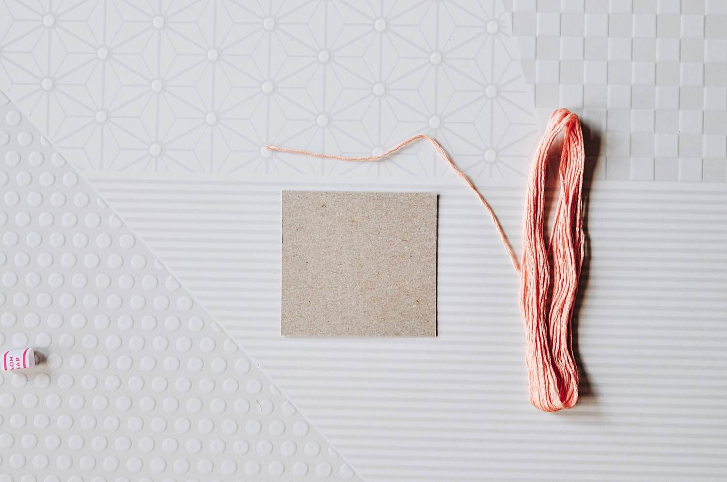 how to make a tassel spool of embroidery thread