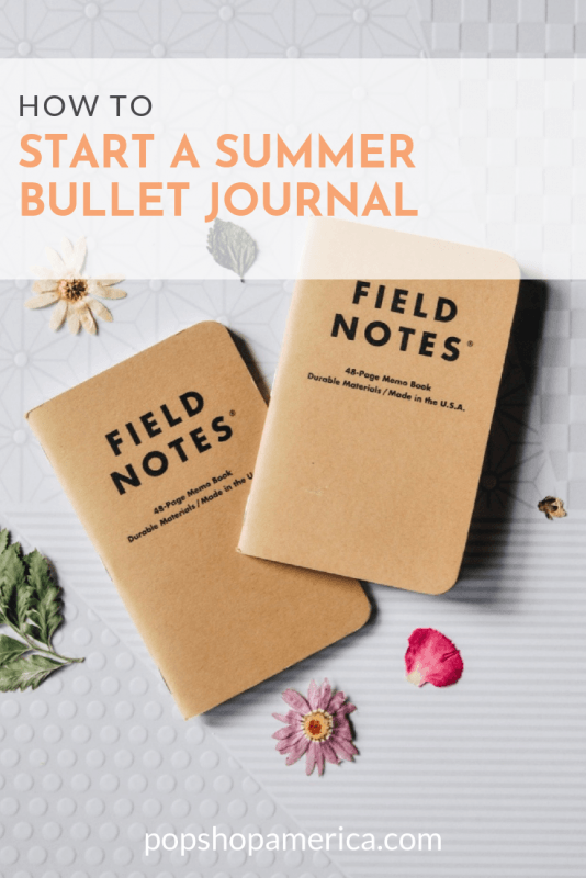 how to start a summer bullet journal pop shop america