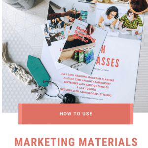 how to use marketing materials to grow your brand pop shop america