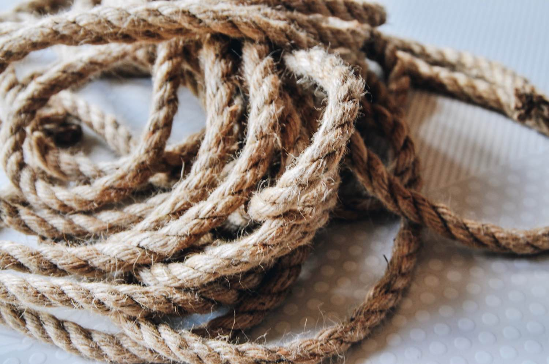 jute rope supplies to make diy rope trivet pop shop america