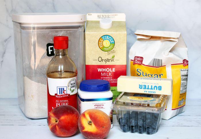 peach blueberry scones ingredients