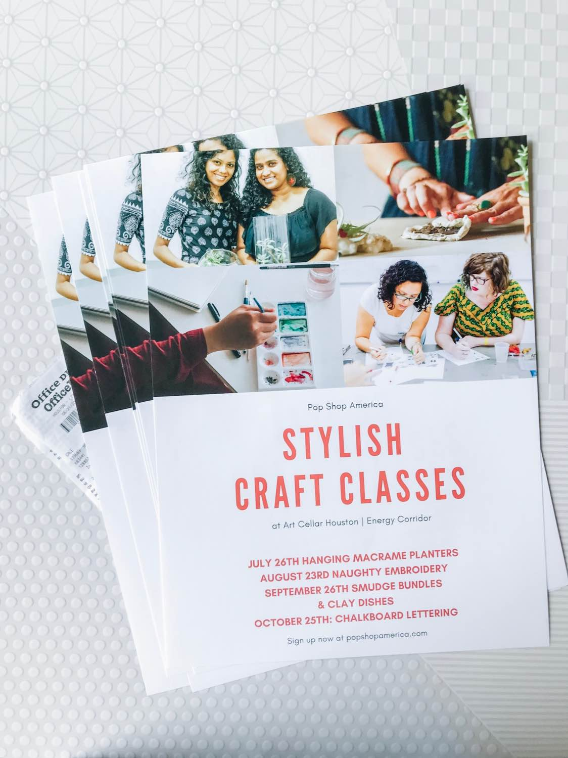 stylish craft classes posters small business marketing materials