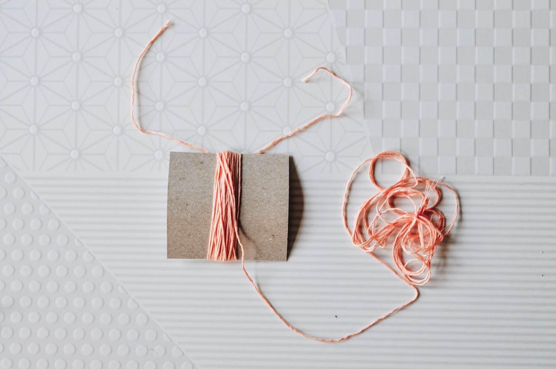 winding a embroidery thread tassel diy pop shop america