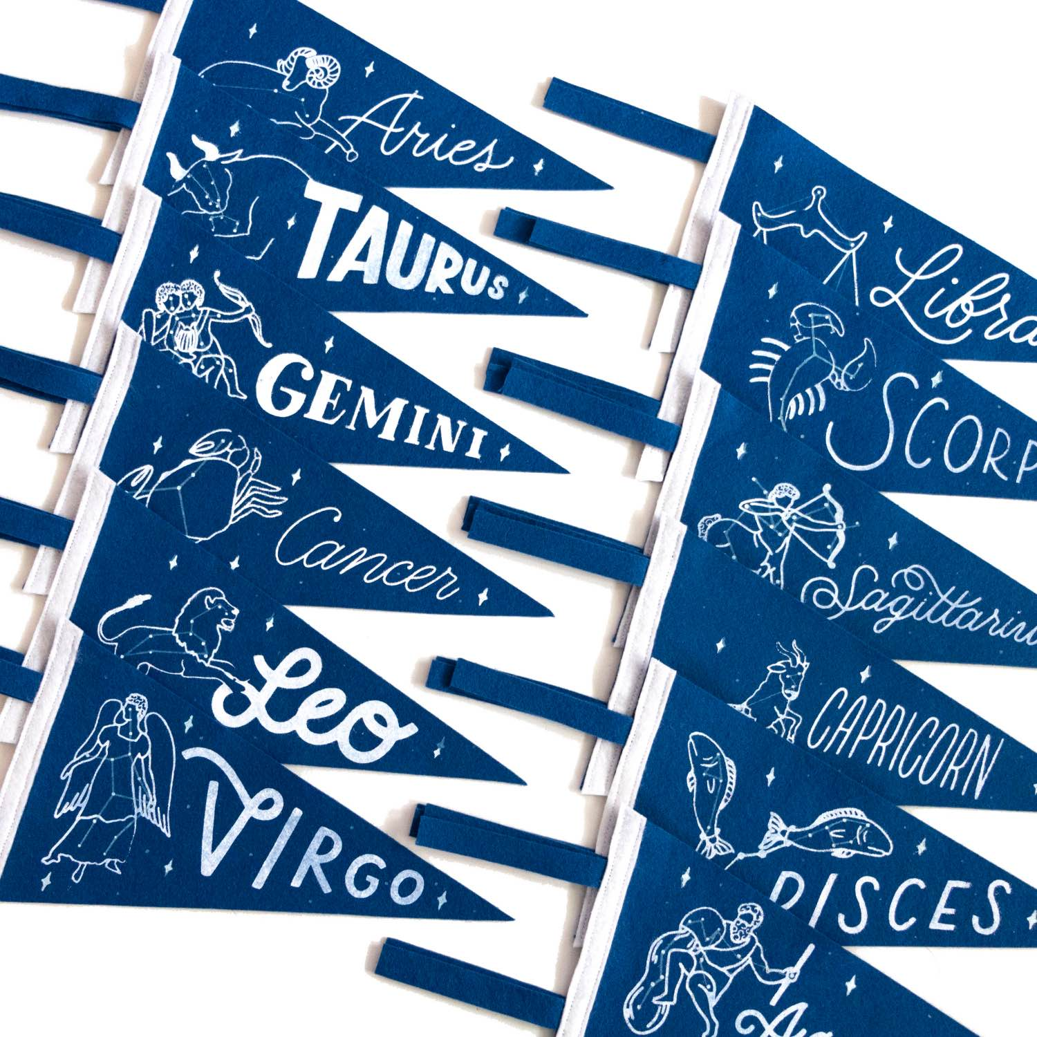 zodiac sign wall art positive pennants pop shop america