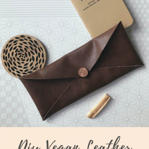 DIY Vegan Leather No Sew Travel Pouch Pop Shop America
