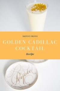 Golden Cadillac Frozen Yogurt Cocktail Recipe Pop Shop America