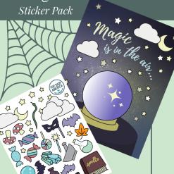 Halloween-Crystal-Ball-Card-and-Sticker-Set