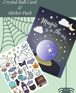 Halloween-Crystal-Ball-Card-and-Sticker-Set