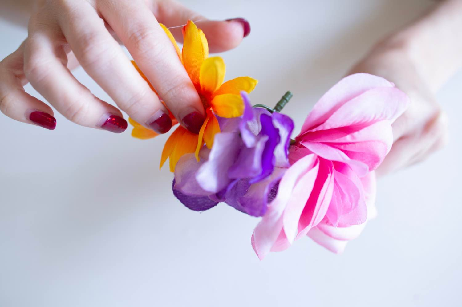 add more flowers to the diy flower headband pop shop america