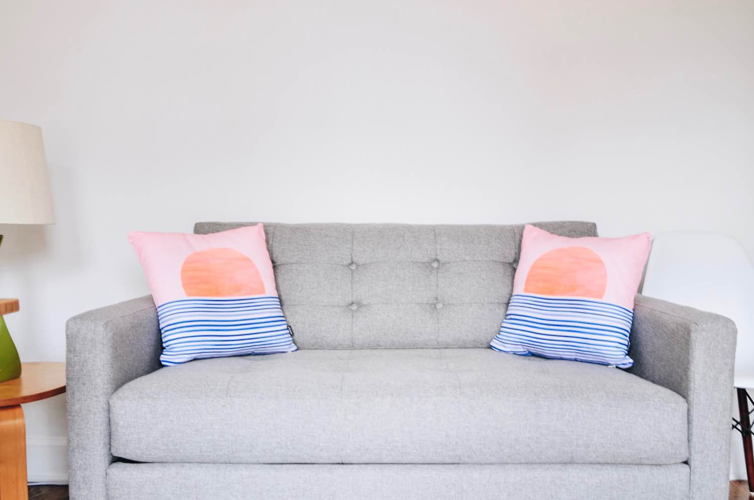after adding pillows from society6 home decor