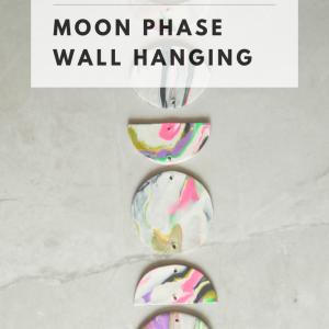 diy moon phase wall hanging pop shop america