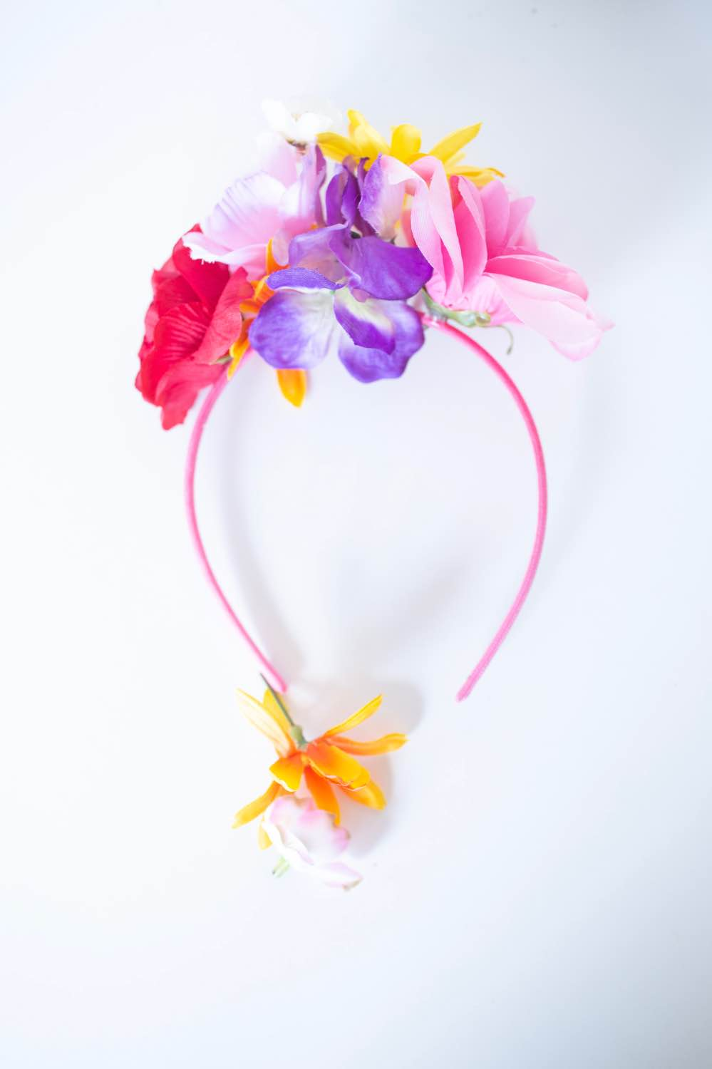finished diy flower crown headband tutorial pop shop america