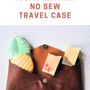 how to make a vegan leather no sew travel case pop shop america