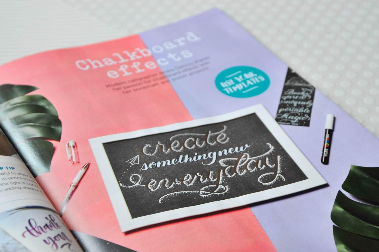 learn chalkboard lettering tutorial simply lettering magazine