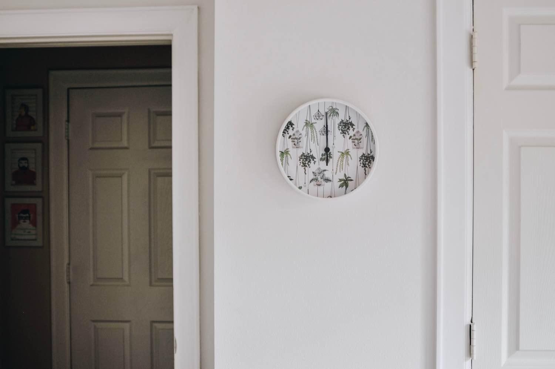 terrarium clock from society6 home decor ideas