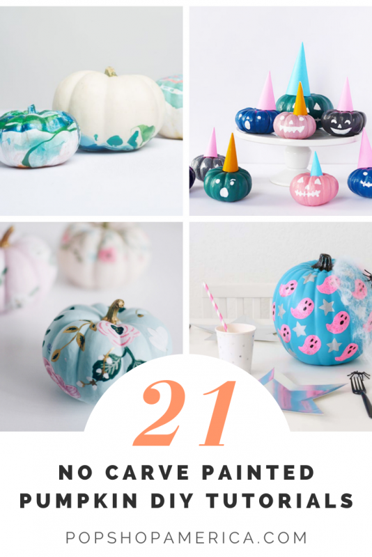 21 diy painted pumpkin tutorials pop shop america