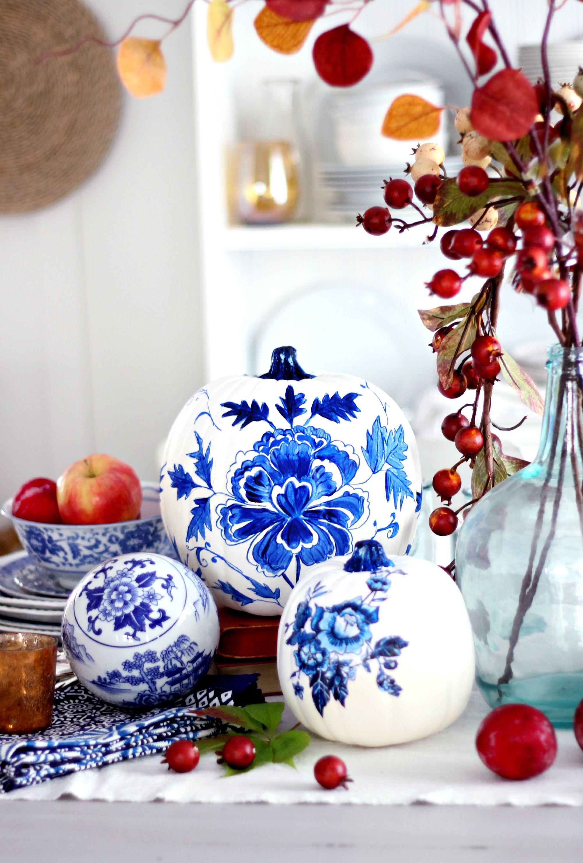 Blue-porcelain-pumpkin-diy-craftberry-bush