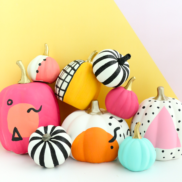 DIY-Painted-Memphis-Pumpkins-Tutorial-Kaolic-Chic-Blog