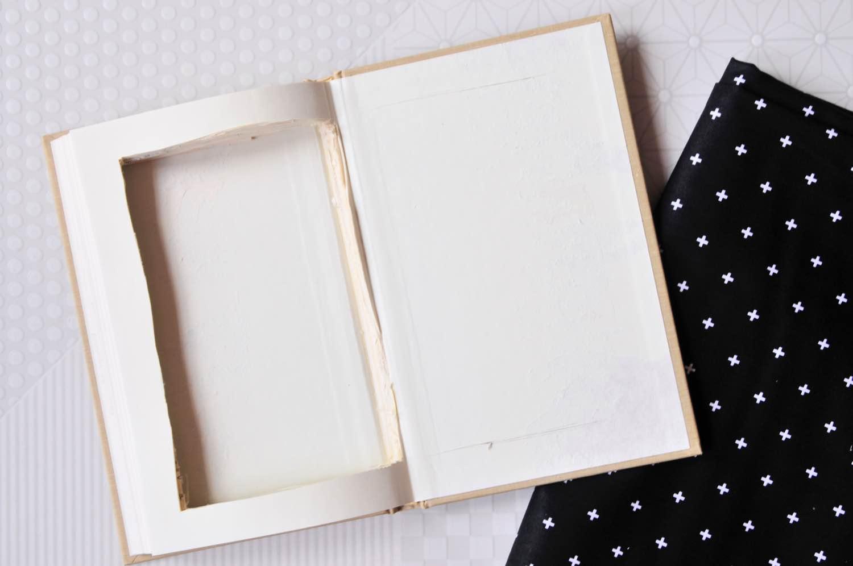 add the fabric no sew diy book clutch purse
