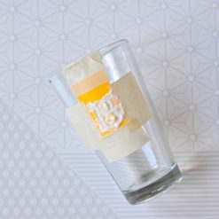 apply the etching cream to the glass tutorial