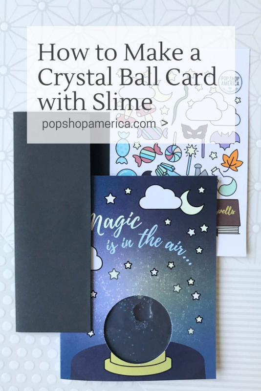crystal ball slime card diy pop shop america
