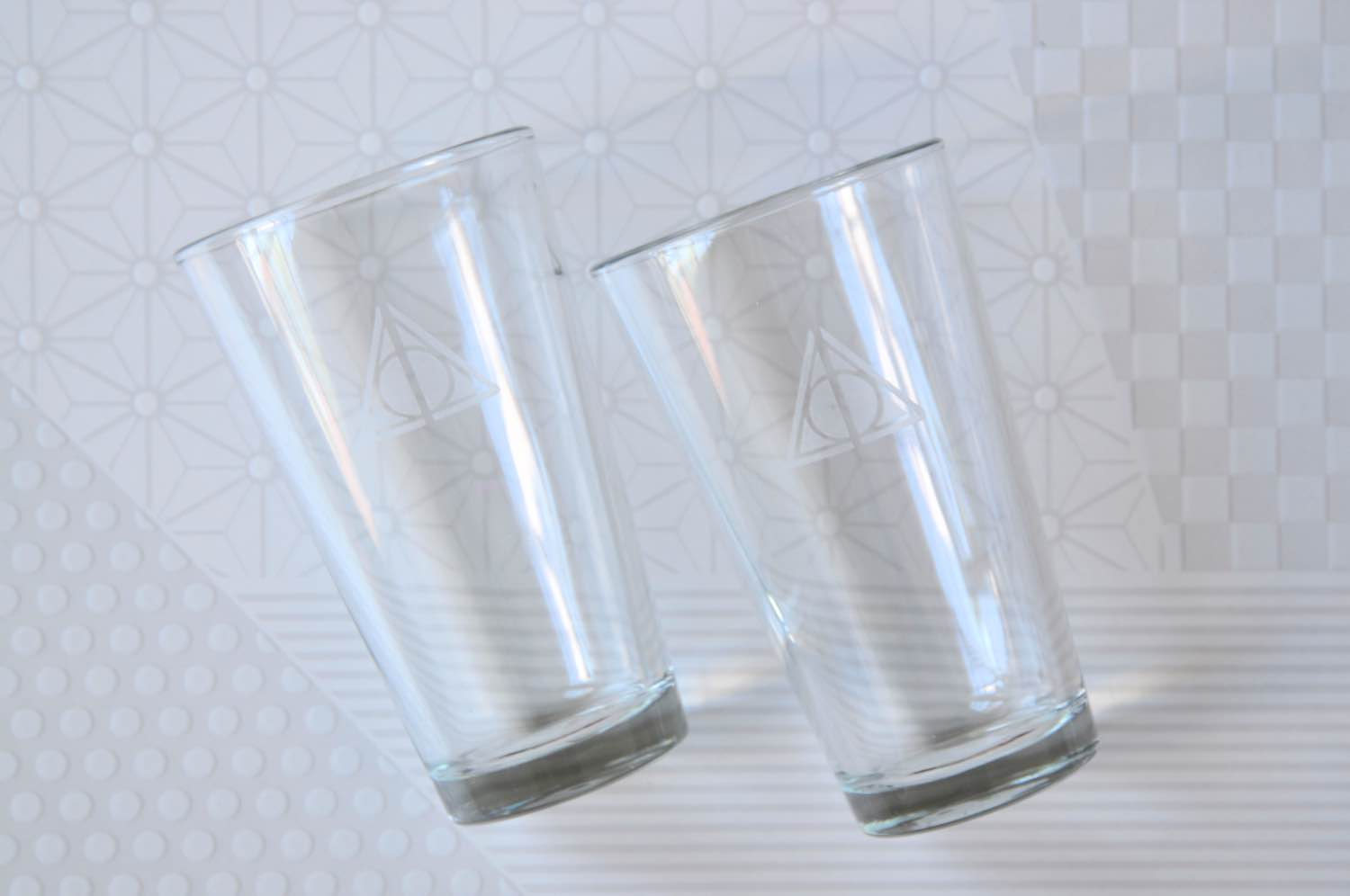 finished deathly hallows glass etched drinkware pop shop america