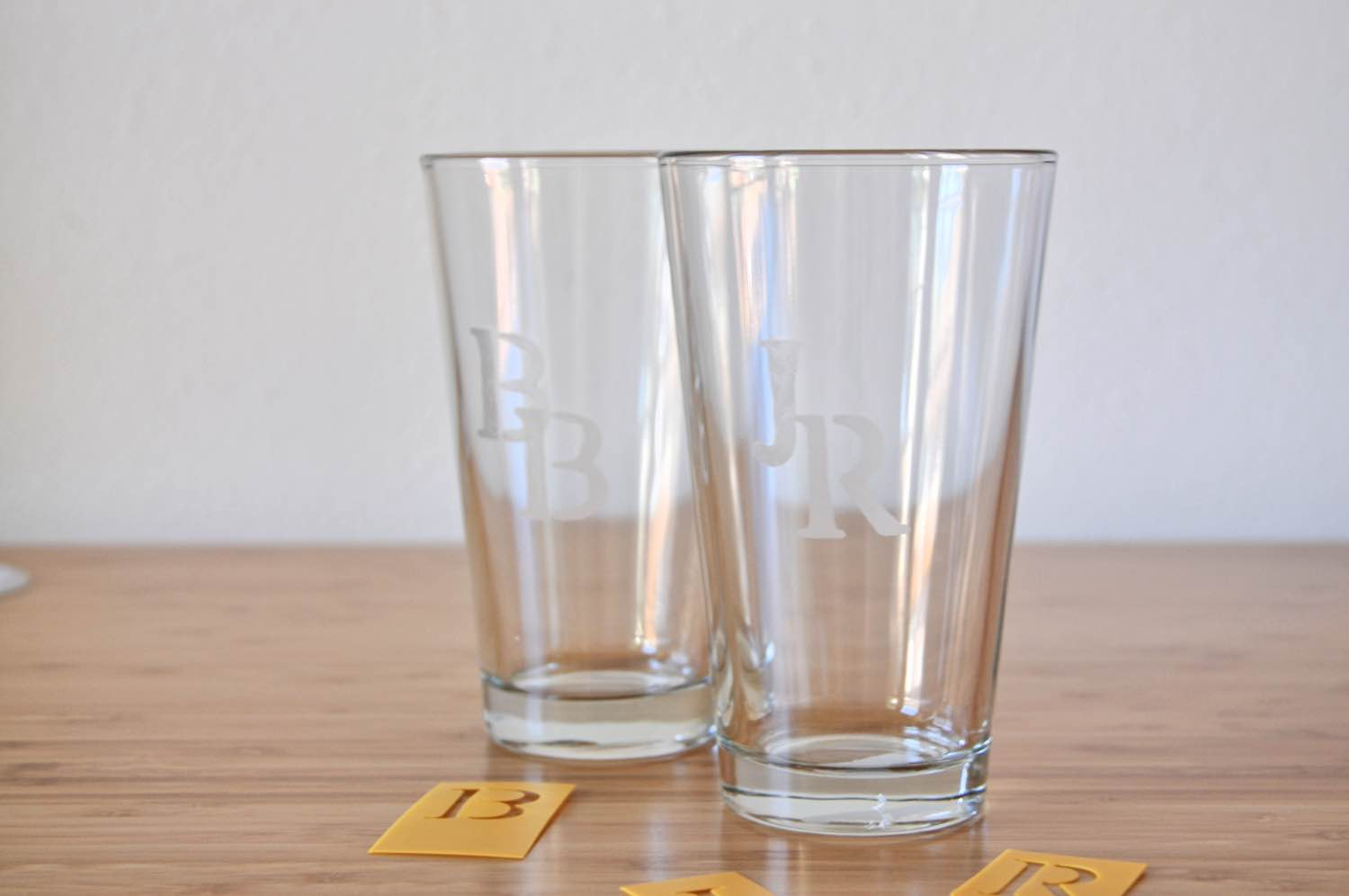 finished pint glass etching diy tutorial pop shop america