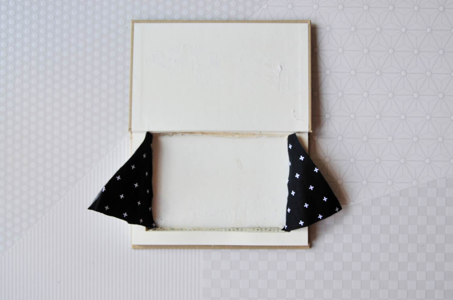 glue the lining in the sides of the book pop shop america