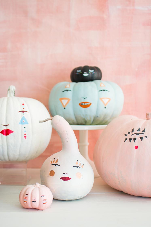 house-that-lars-built-Pastel-Pumpkin-Faces-painted-pumpkins