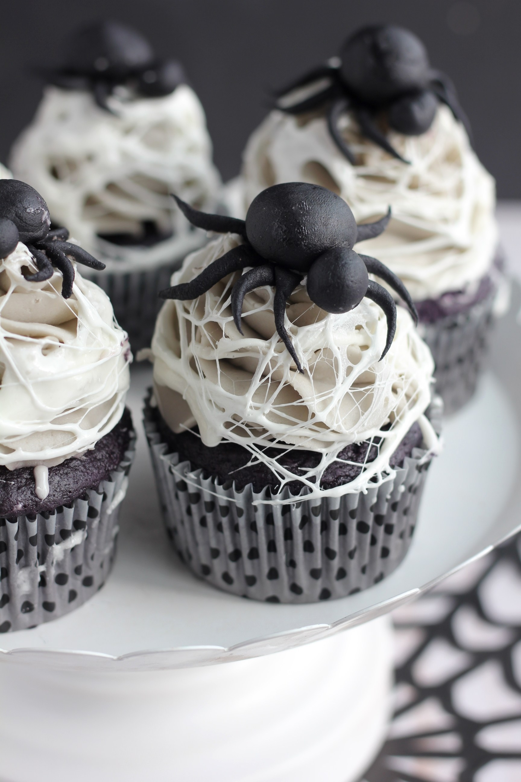 marshmallow spider web cupcakes recipe halloween